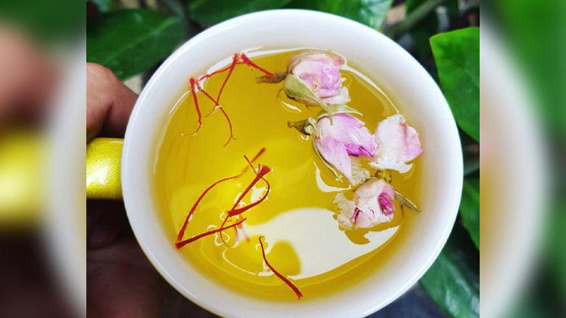 cách sử dụng nhụy hoa nghệ tây pha trà Saffron